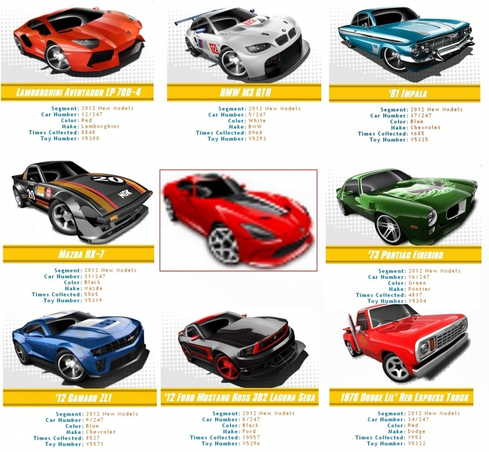 srt viper cherchez l 39 intruse parmi les hot wheels teaser blog automobile. Black Bedroom Furniture Sets. Home Design Ideas
