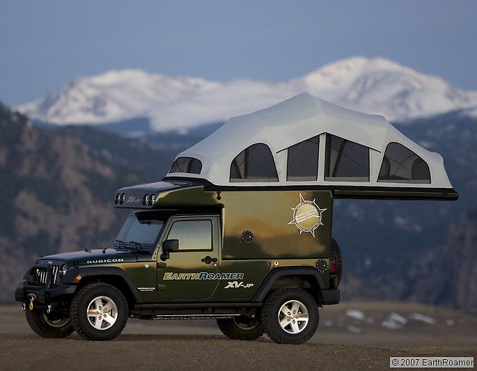 earthroamer xv jp la version camping car de la jeep wrangler vid os blog automobile. Black Bedroom Furniture Sets. Home Design Ideas