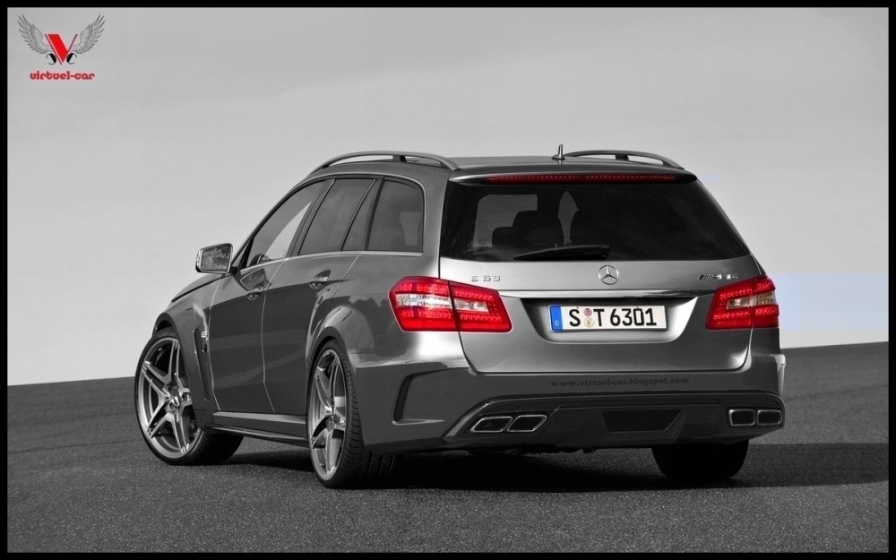 mercedes benz e 63 amg break black series et si blog automobile. Black Bedroom Furniture Sets. Home Design Ideas
