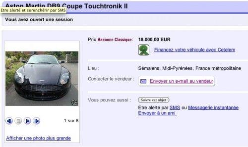 Arnaque eBay Aston Martin