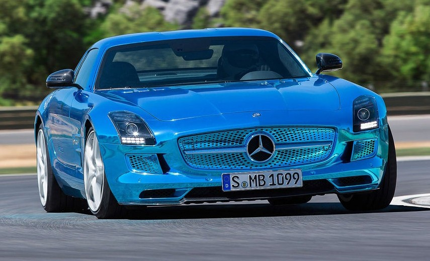 mercedes benz sls amg electric drive la voiture. Black Bedroom Furniture Sets. Home Design Ideas
