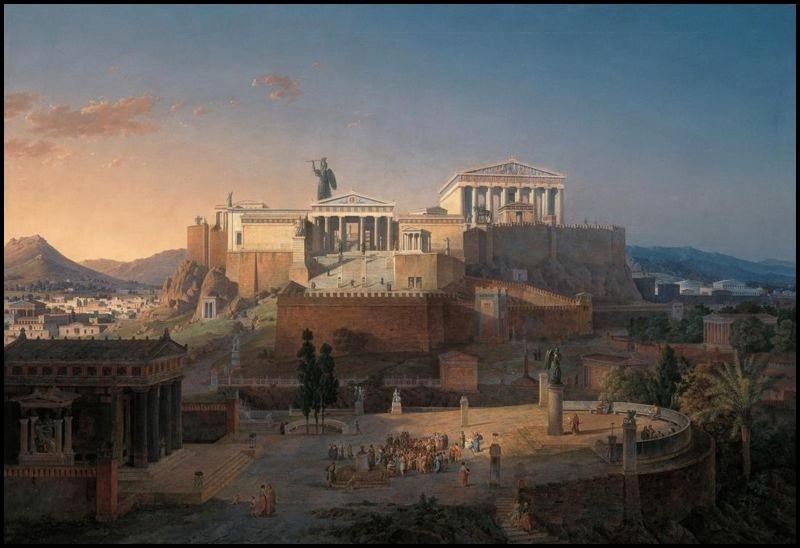 ACROPOLE ATHENES  by Leo von Klenze - 1846 -