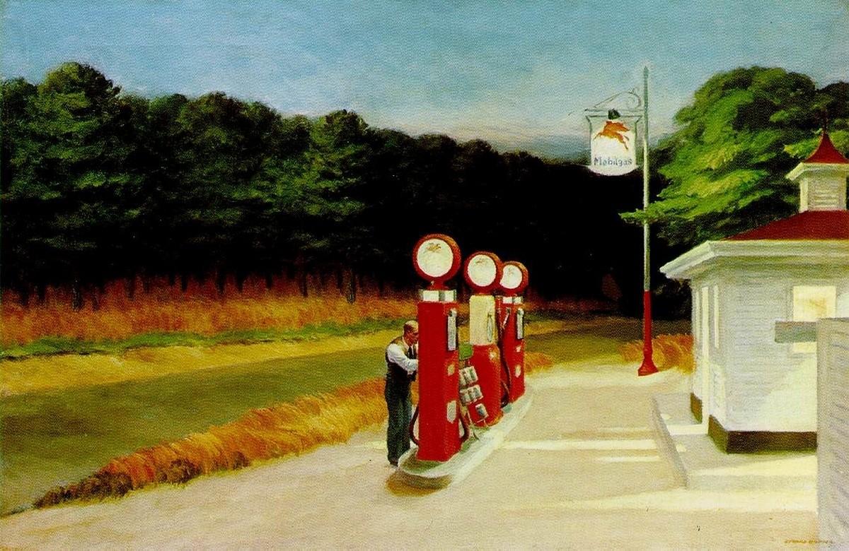 Edward Hopper : Gas - 1940 -
