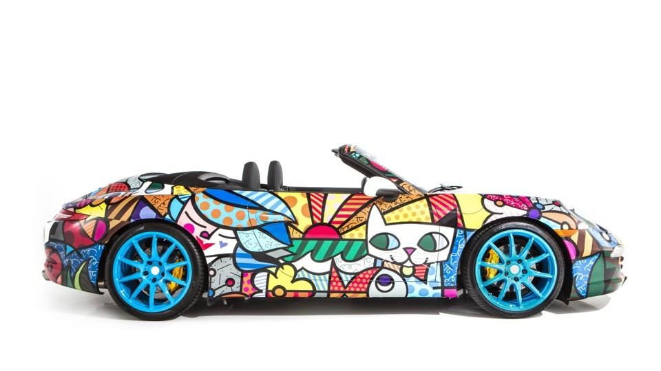 Porsche La 911 Cabriolet Par Romero Britto Blog Automobile