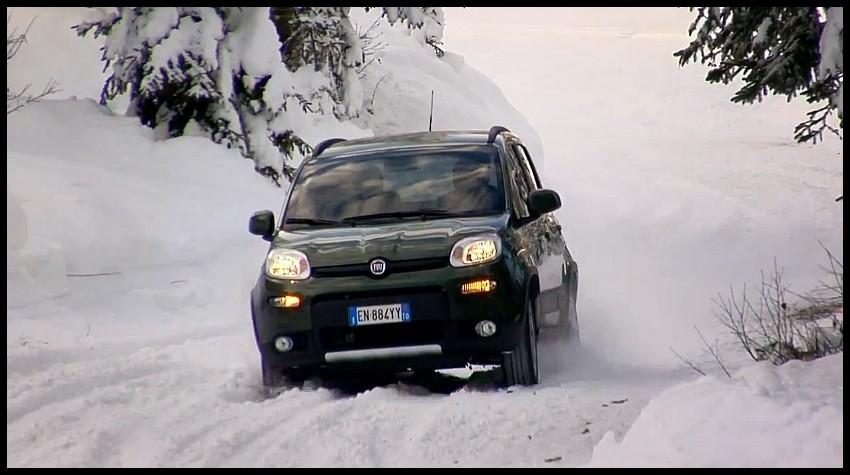 Fiat panda 4x4 2013 balade hivernale vid o blog for 4x4 dans la boue