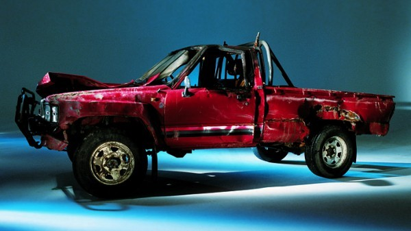 Toyota pick-up truck, the car they couldn't kill - screen grabs