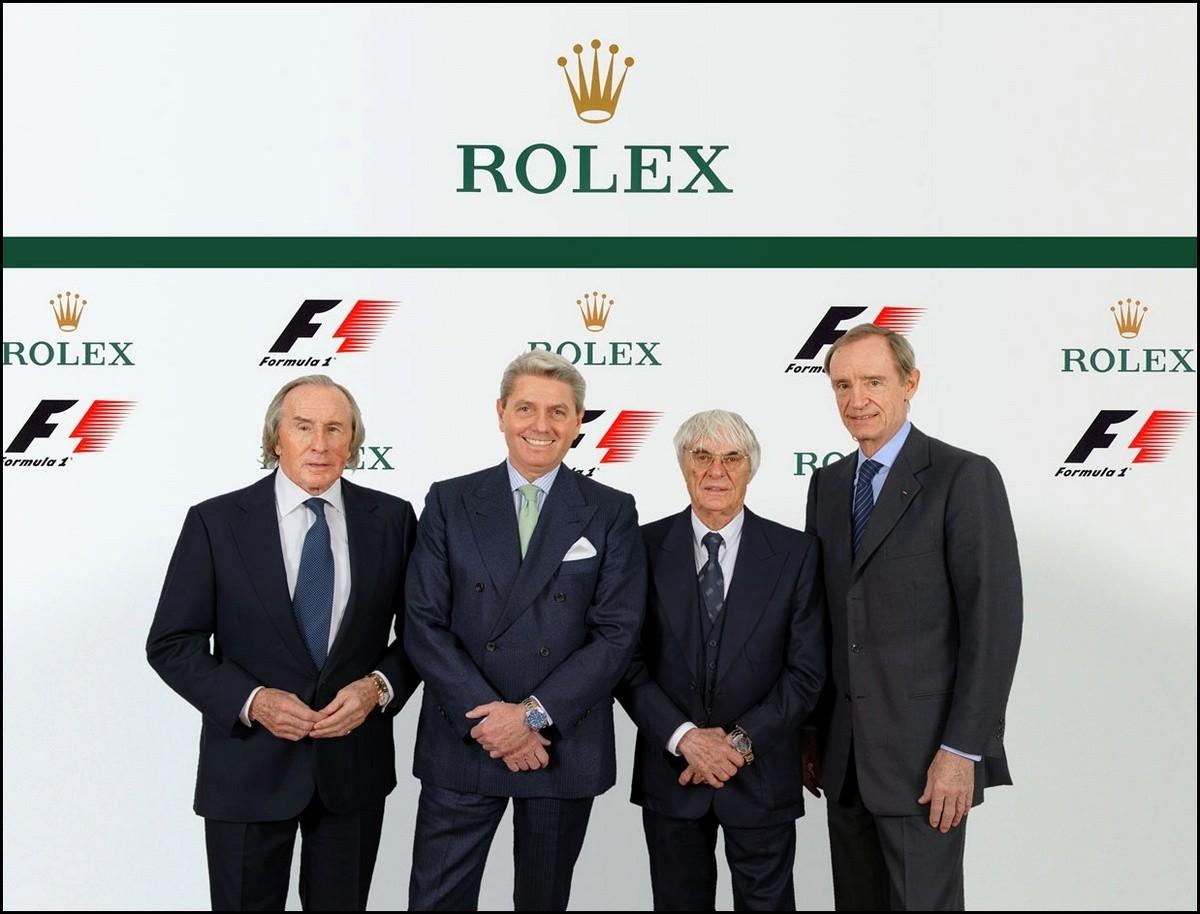rolex devient le chronométreur officiel de la F1