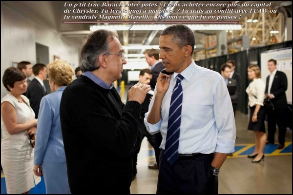 sergio Marchionne et Obama