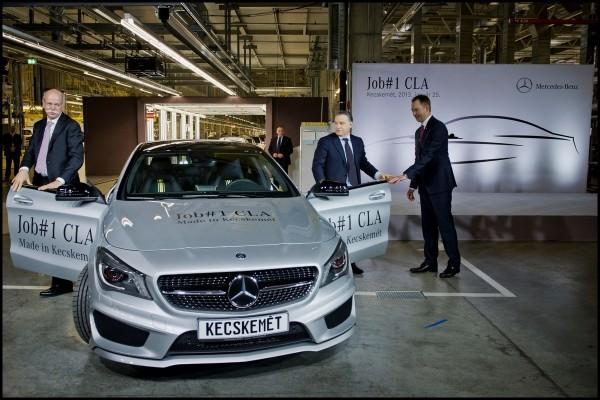 début de production Mercedes CLA en Hongrie