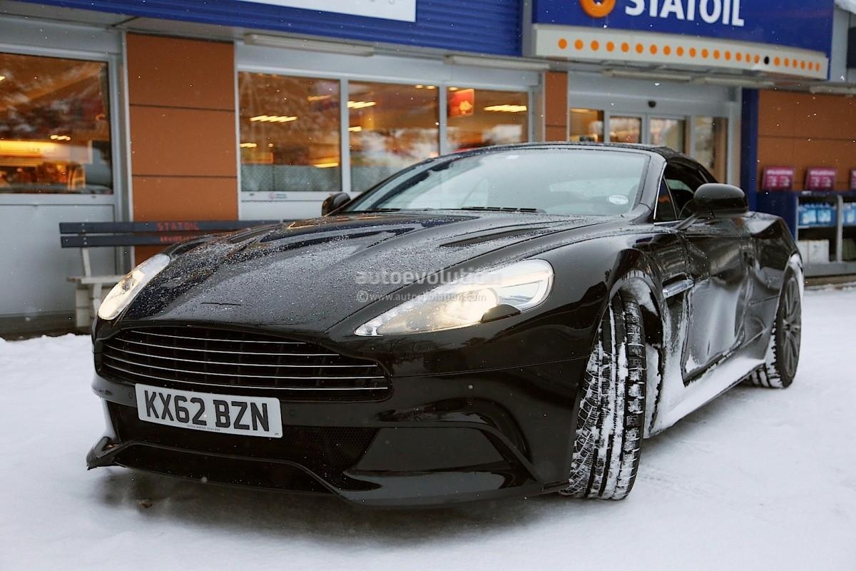 Aston Martin Vanquish Volante Tests Hiver 2013 (2)