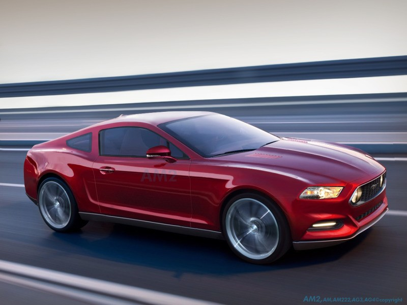 Photo 2015mustangrendering3 600x450 Ford Mustang 2014/2015 : Le moteur