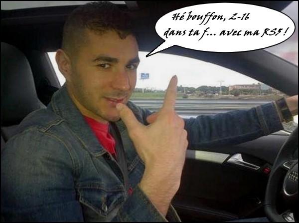 Benzema à 216 à l'heure.1