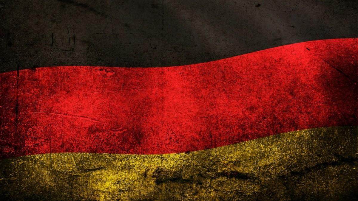 Drapeau allemand et la crise économique