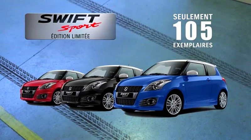 suzuki swift sport edition limit e 2 toujours sympa blog automobile. Black Bedroom Furniture Sets. Home Design Ideas