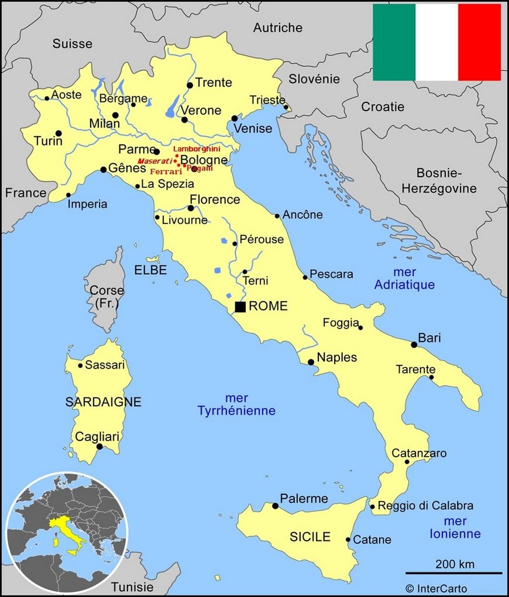 italie et supercars