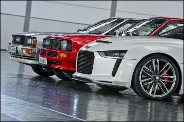Audi-quattro,Sport-quattro et Quattro-concept