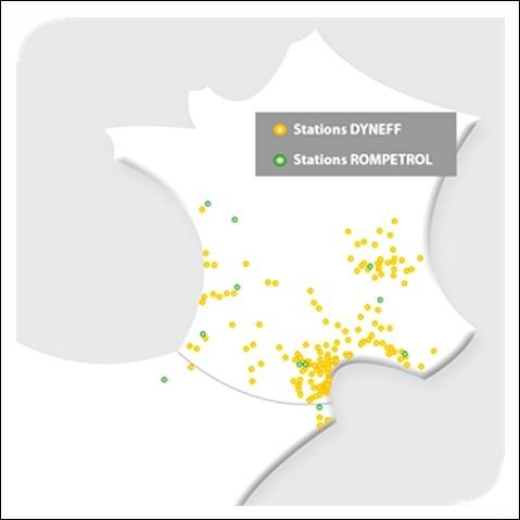 Implantations Dyneff en France
