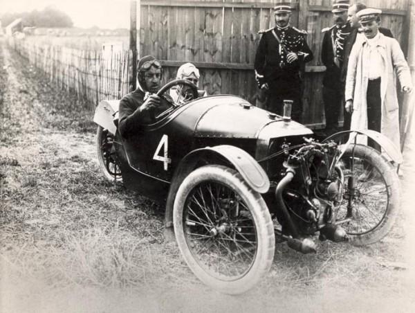 Morgan Three wheeler au GP d'Amiens