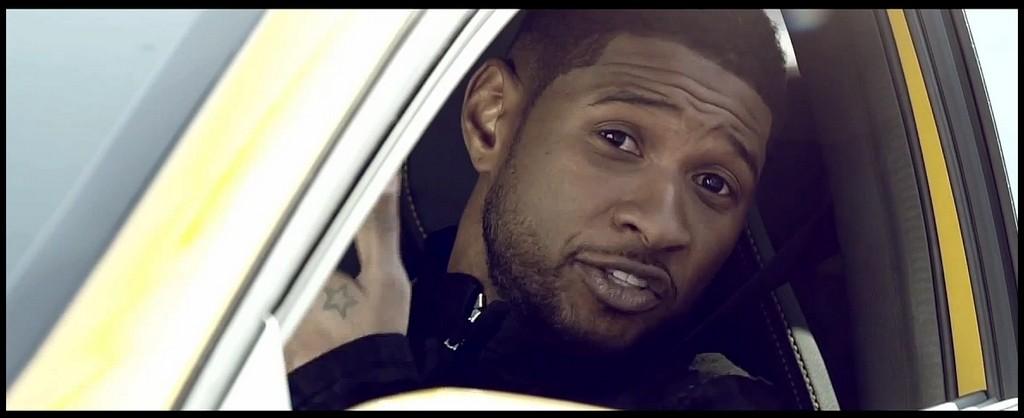 Usher et la Mercedes Benz A45 AMG