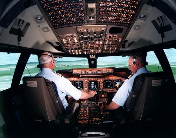 cockpit de 747