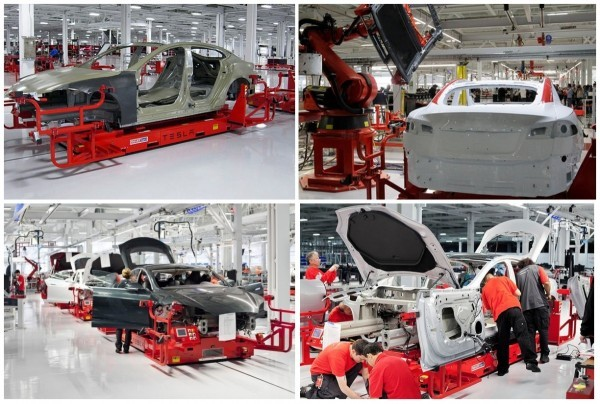 tesla model S production