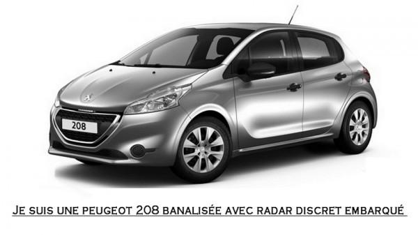 Peugeot 208 banalisée idéale pour les radars embarqués