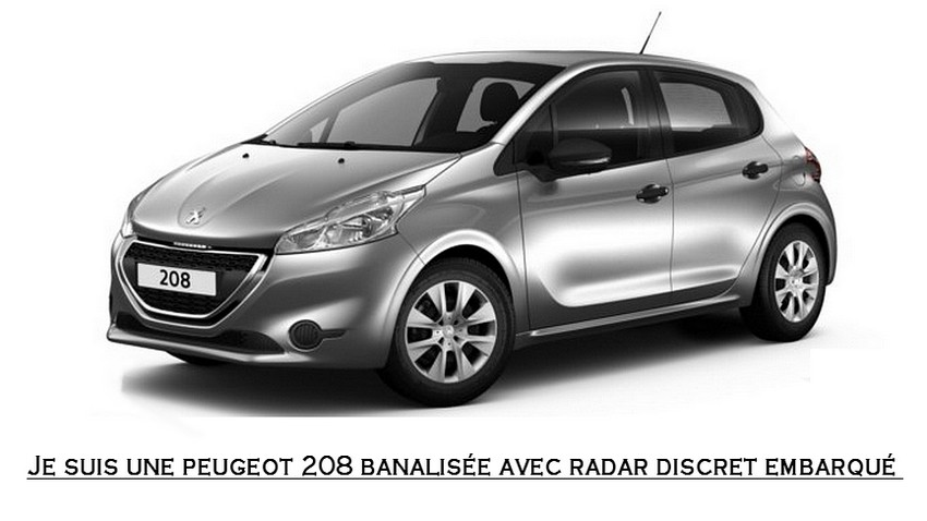 peugeot 208 existe d sormais en version banalis e avec radar embarqu masqu blog automobile. Black Bedroom Furniture Sets. Home Design Ideas