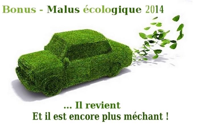Bonus Malus écolo 2014