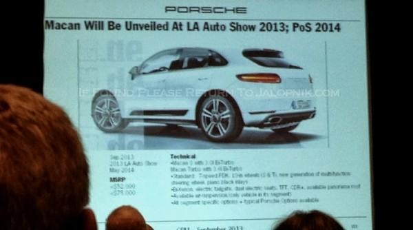 Porsche  programme 2014.3