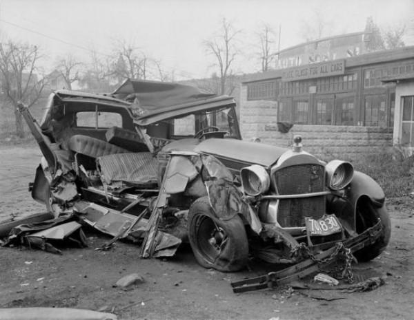 accident de la route années 30 aux USA.1