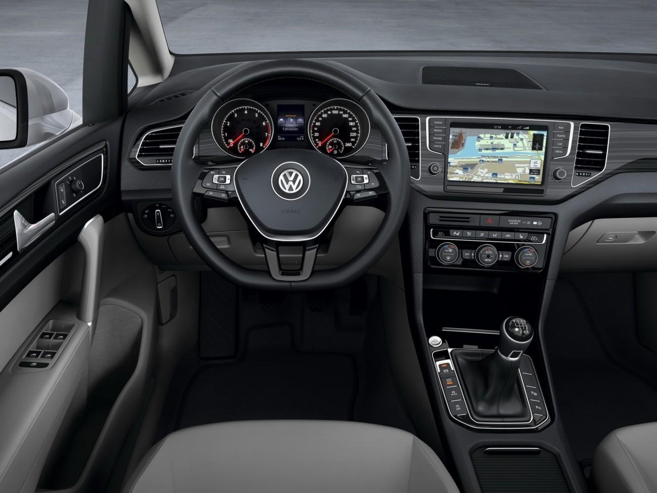Nouvelle volkswagen sportsvan concept la golf de for Interieur up