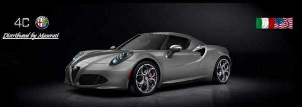 Alfa Romeo 4C distribuée par Maserati aux Etats Unis
