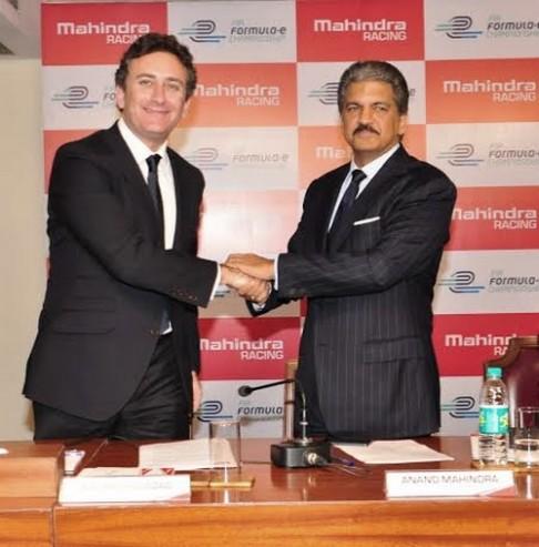 Alejandro Agag CEO de Formula E Holdings et Anand-Mahindra CEO de Mahindra Group