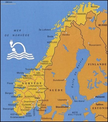 carte norvege VE