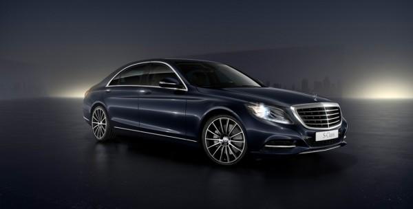 Mercedes Benz Classe S500 L Bleu Anthracite avec jante 20 pouces