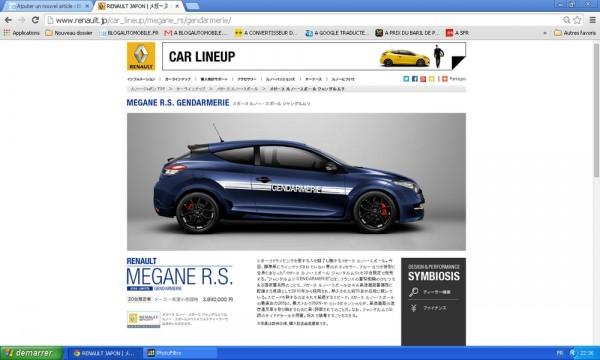 Renault Megane RS Gendarmerie Japon.5