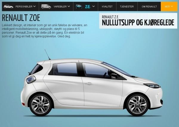 Renault Zoé en Norvège
