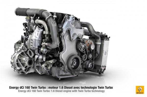 Renault Moteur L4 1.6 L Energy dCi 160 ch TwinTurbo