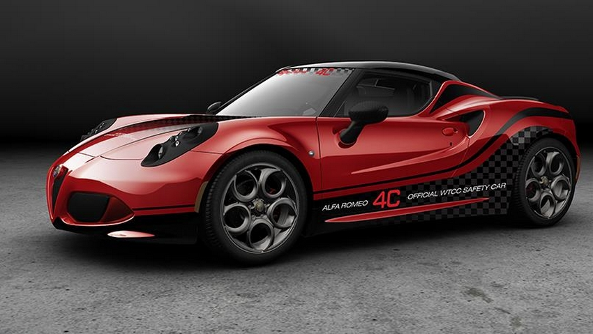 Alfa Romeo 4C Safety car du WTCC