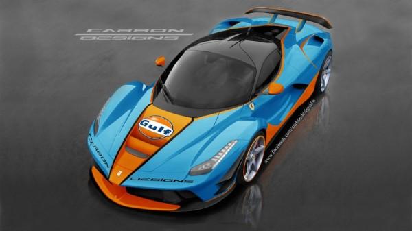 Ferrari LaFerrari en livrée Gulf Racing par CarbonDesign
