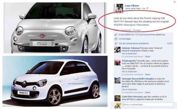 Fiat et Lapo Elkann versus Renault et la Twingo Mk3