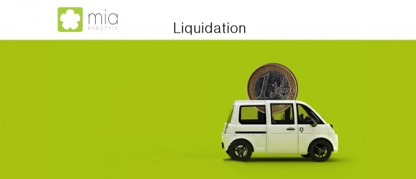 Mia electric en liquidation