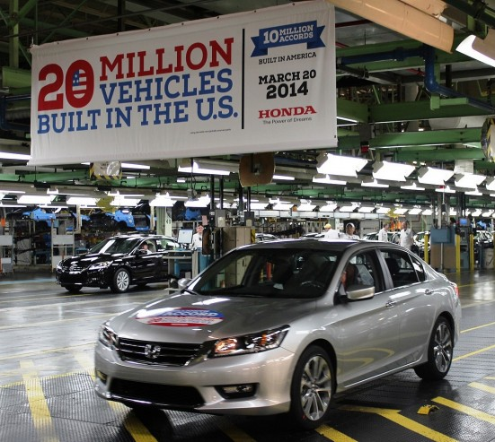 Honda Celebrates 20 Millionth Automobile Built in the U.S.