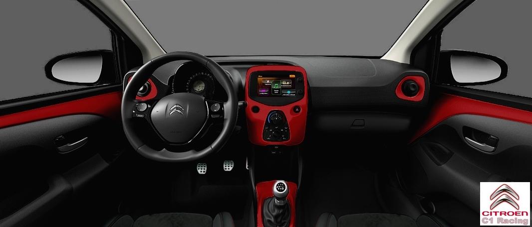 Citro n c1 racing petit gabarit grand plaisir blog for Grand interieur rouge