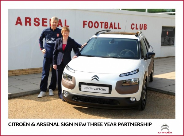 Citroen et Arsenal prolongent leur contrat