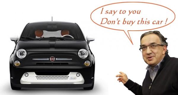 Fiat 500e - la voiture déconseillée par Sergio