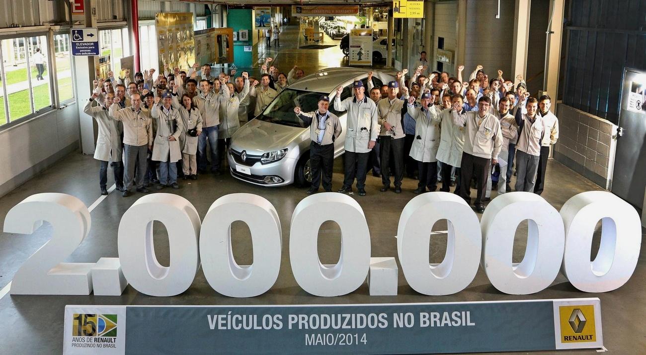 Renault Brazil 2 millions d'autos produites