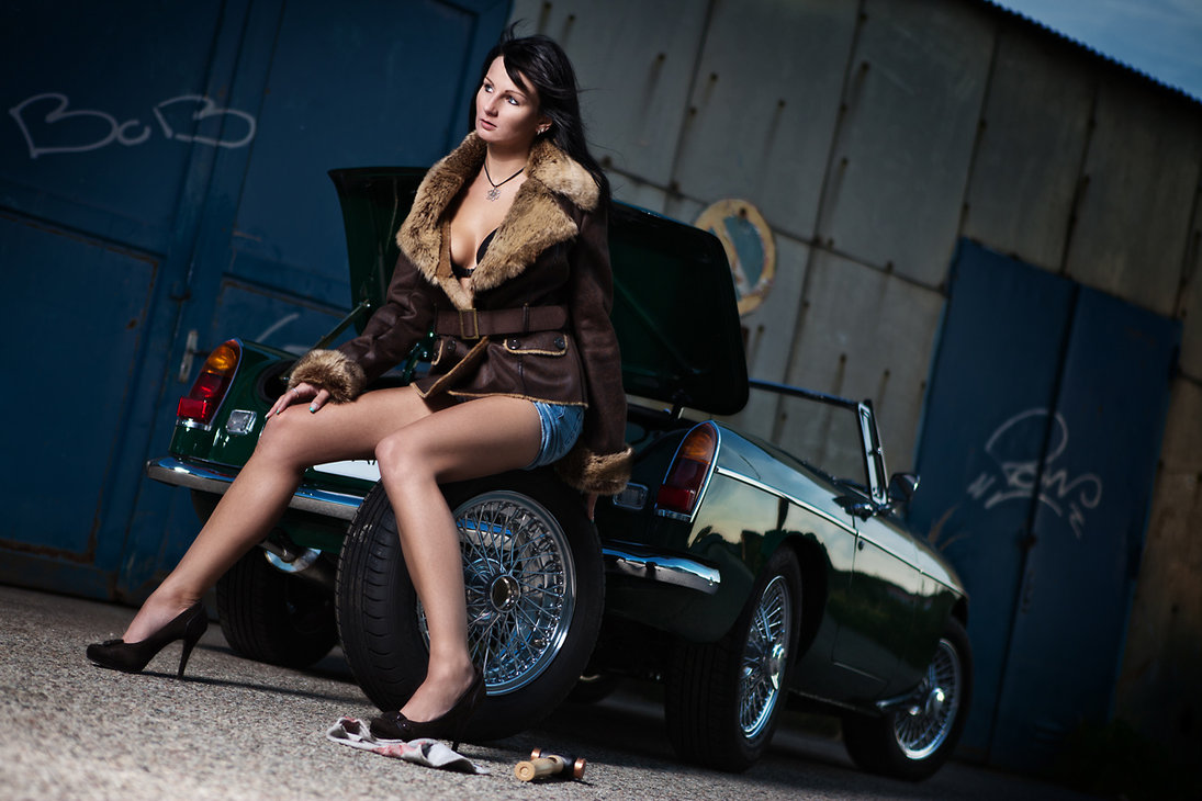 cindy_and_mg_roadster_by_stephanthem-d465q4c