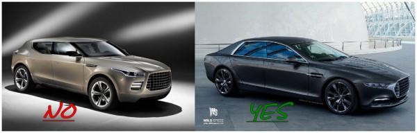 Aston Martin  - oui à la berline non au SUV
