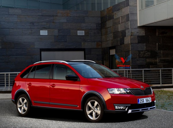 Skoda Rapid Spaceback Scout par Khalil B pour Blogautomobile.1